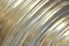 Gold Metallic Sheen Background. Gold poilished metal background. Diagonal abstract of an imaginary surface Stock Photography