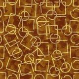 Gold metallic wire elements, abstract background in 3d design. Stock Photo