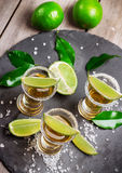 Gold mexican tequila shot Stock Photography