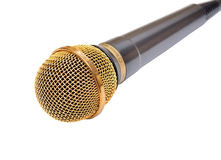 Gold microphone Stock Photo