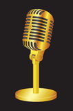 Gold Microphone Royalty Free Stock Photography