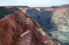 Gold mine. Super Pit gold mine in Western Australia Stock Photography