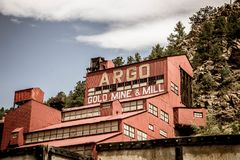 Gold Mine equipment in Idaho Springs royalty free stock image