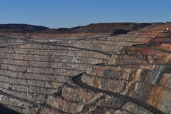 Gold mine mining open pit Kalgoorlie Boulder Royalty Free Stock Photo