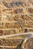 Gold Mine - open caste 2. Vertical faces of steep open cast working gold mine royalty free stock photos