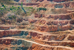 Gold mine open caste Stock Photography