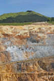 Gold Mine - open caste 3. Vertical faces of steep open cast working gold mine Royalty Free Stock Photos