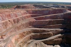 Gold mine open pit. At Cobar town, Australia Stock Images
