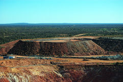 Gold mine open pit. Hills, Cobar, Australia Stock Photo