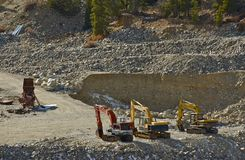 Gold Mine Operation Royalty Free Stock Images