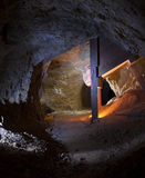 Gold Mine Tunnel Stock Image