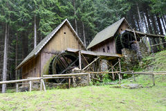 Gold mine water mills in Zlate Hory, Czech Republic. Stock Photography