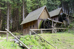 Gold mine water mills in Zlate Hory, Czech Republic. Stock Photos