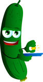 Gold miner cucumber or pickle Royalty Free Stock Photos
