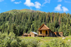 Gold Miners Cabin at Animas Forks Colorado Stock Photos