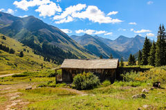Gold Miners Cabin at Animas Forks Colorado Royalty Free Stock Images