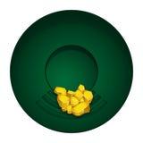 Gold mining  bowl Royalty Free Stock Image