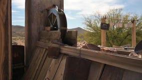 Gold mining equipment in Tombstone, Arizona, slow motion