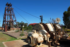 Gold mining industrial monument. Gold mining monument, Cobar, Australia Royalty Free Stock Photos