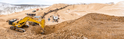 Gold mining. Industrial site. Stock Photography