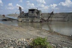 Gold mining in Kolyma. Royalty Free Stock Image