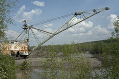 Gold mining in Kolyma. Magadan region Stock Images