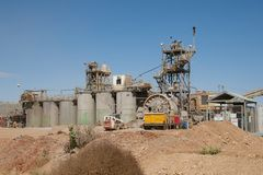 Gold Mining Process Plant Royalty Free Stock Image