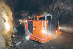 Gold mining underground Stock Photo
