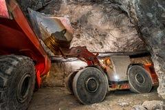 Gold mining underground Stock Image