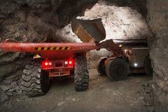 Gold mining underground Royalty Free Stock Photos