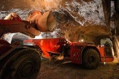 Gold mining underground Stock Photography
