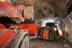 Gold mining underground Royalty Free Stock Photo