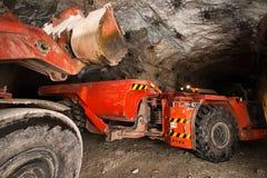 Gold mining underground Royalty Free Stock Photography