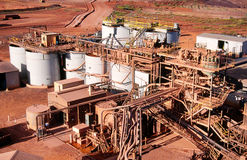 Gold Mining. View of Gold Mining processing plant in the desert of Australia Stock Image