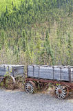Gold mining wagons Royalty Free Stock Images