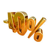 Gold -40%, Minus Forty Percent Discount Sign Royalty Free Stock Photos