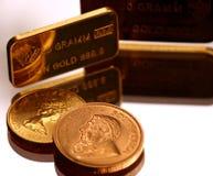 Gold on mirror Royalty Free Stock Photos