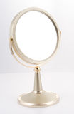 Gold Mirror with Stand. Mirror for the bathroom, luxury goods Stock Image