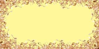 Gold mistletoe Royalty Free Stock Photos
