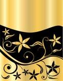 Gold mit Blumen Stockbild