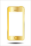 Gold Mobile Phone Vector Illustration Royalty Free Stock Photography