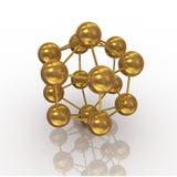 Gold molecule Royalty Free Stock Photos