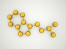 Gold molecule concept Stock Photography