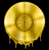 Gold molten or melted record music disc award