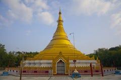 Gold Monastery In Lumbini Royalty Free Stock Photography