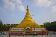 Gold Monastery in Lumbini Royalty Free Stock Photography
