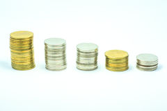 Gold and money Royalty Free Stock Photography