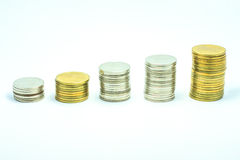 Gold and money Royalty Free Stock Images