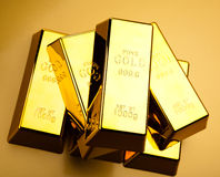 Gold and money, ambient financial concept Stock Images