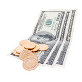 Gold And Money Stock Image